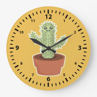 Kawaii Cactus Large Clock