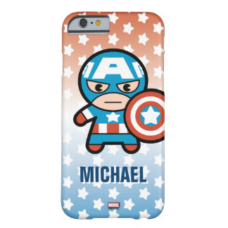 Kawaii Captain America With Shield Barely There iPhone 6 Case