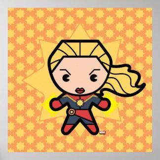 Kawaii Captain Marvel Photon Engery Poster