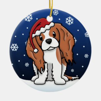 Kawaii Cartoon Blnhm Cavalier King Charles Spaniel Christmas Ornament