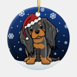 Kawaii Cartoon BT Cavalier King Charles Spaniel Christmas Ornament