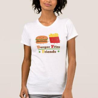 Kawaii Cartoon Burger Fries Friends BFF T-Shirt