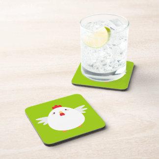 Kawaii Cartoon Chicken Cork Coasters