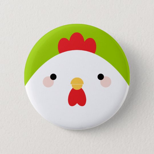 Kawaii Cartoon Chicken Pin Badge Button