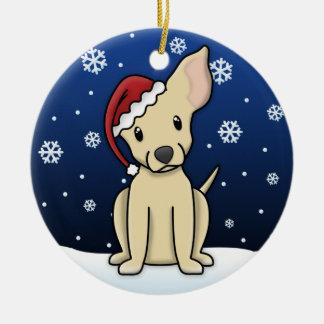 Kawaii Cartoon Chihuahua Christmas Ornament