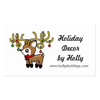 Kawaii Cartoon Christmas Reindeer Deer Business Pack Of Standard Business Cards
