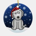Kawaii Cartoon Irish Wolfhound Christmas Ornament