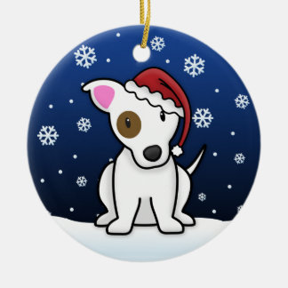 Kawaii Cartoon Jack Russell Terrier Christmas Christmas Ornament