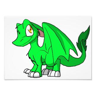 Kawaii Cartoon Recolourable SD Furry Dragon Photographic Print