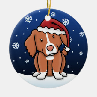 Kawaii Cartoon Toller Christmas Ornament