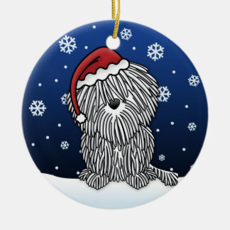 Kawaii Cartoon White Puli Christmas Ornament