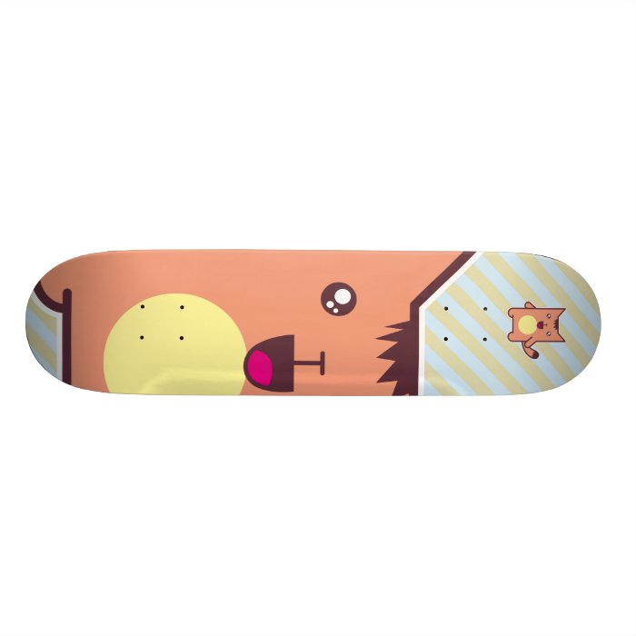 Kawaii cat 21.3 cm mini skateboard deck