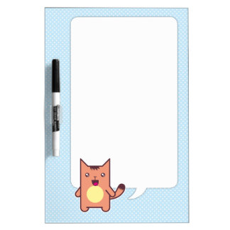 Kawaii cat dry erase board