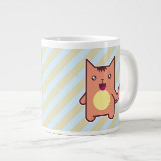 Kawaii cat extra large mug