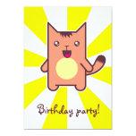 Kawaii cat personalized invitation