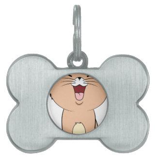 kawaii cat pet name tag