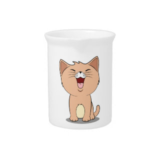 kawaii cat pitcher
