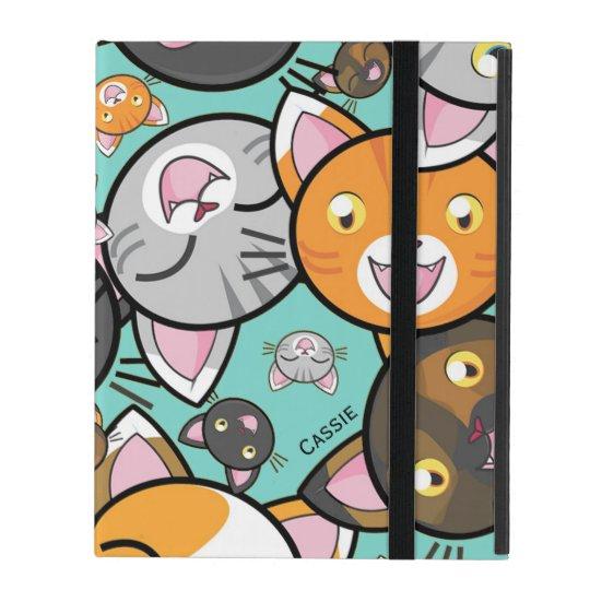 Kawaii Cats iPad Folio Case