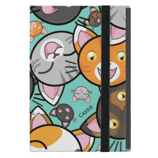 Kawaii Cats iPad Mini Folio Case Covers For iPad Mini