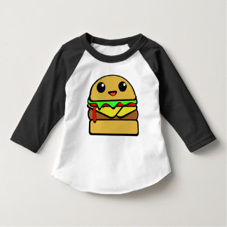 Kawaii Cheeseburger Character Tee Shirts