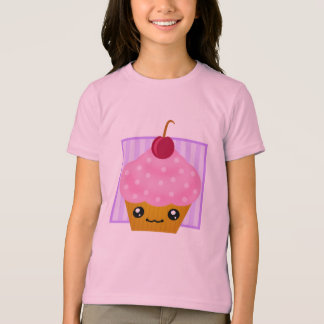 Kawaii Cherry Cupcake Apparel T-Shirt