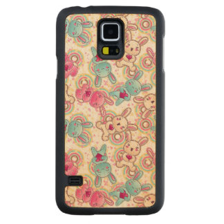 Kawaii Child Pattern with Cute Doodles 2 Carved® Maple Galaxy S5 Slim Case