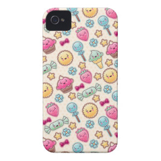 Kawaii child pattern with cute doodles iPhone 4 covers