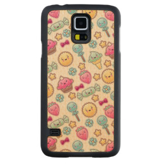 Kawaii child pattern with cute doodles maple galaxy s5 slim case
