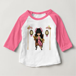 Kawaii China Doll Scene Baby T-Shirt