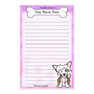 Kawaii Chinese Crested Stationery