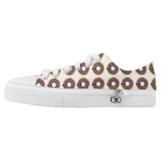 Kawaii Chocolate Glazed Sprinkle Donut Printed Shoes