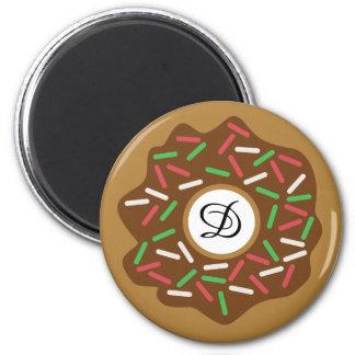 Kawaii Christmas Donut Red Green Sprinkles Iced Magnet