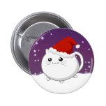 Kawaii christmas kitty cat 6 cm round badge