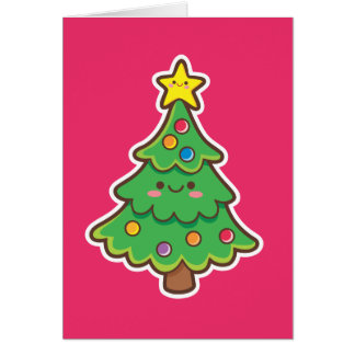 Kawaii Christmas Tree Card