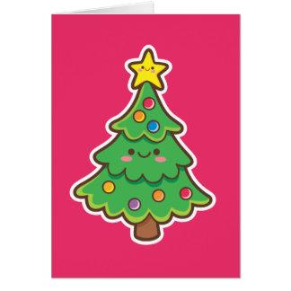 Kawaii Christmas Tree Greeting Card
