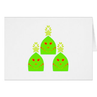 Kawaii Christmas Tree Ladies Greeting Card