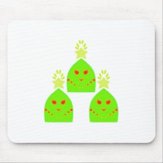 Kawaii Christmas Tree Ladies Mouse Pad