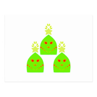 Kawaii Christmas Tree Ladies Postcard