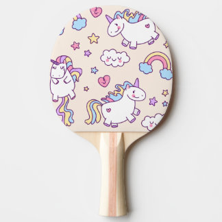 Kawaii chubby flying unicorns rainbow pattern