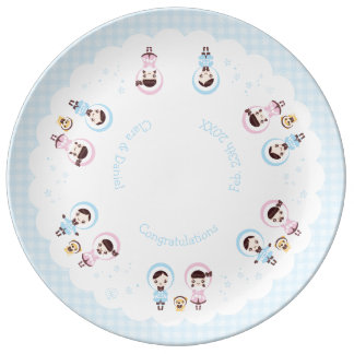Kawaii Clara - Winter (blue) Plate