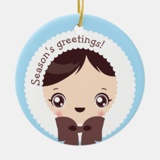 Kawaii Clara - Winter (Daniel) Christmas Ornament