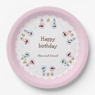 Kawaii Clara - Winter (pink) Paper Plate