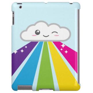 Kawaii Cloud and Rainbow iPad Case