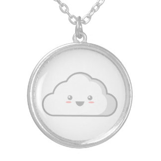 Kawaii Cloud Round Pendant Necklace