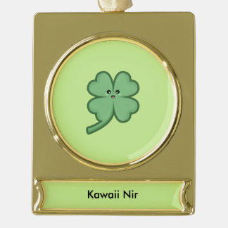 Kawaii Clover Gold Plated Banner Ornament
