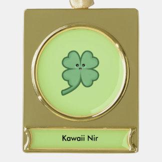 Kawaii Clover Gold Plated Banner Ornament