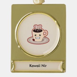 Kawaii Coffee Gold Plated Banner Ornament