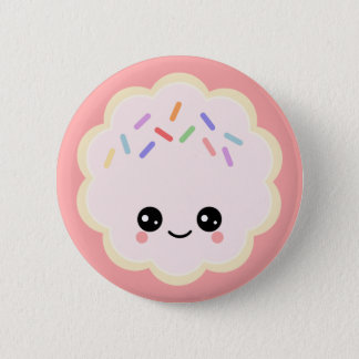 Kawaii Cookie 6 Cm Round Badge