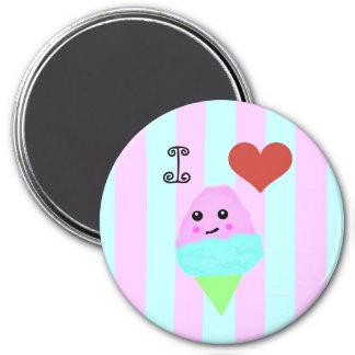 Kawaii Cotton Candy 7.5 Cm Round Magnet