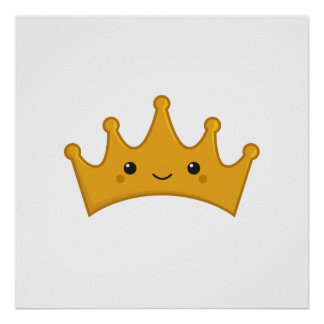 Kawaii Crown Poster